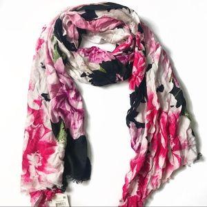 INC International black floral pashmina scarf